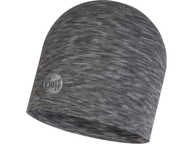 Buff Heavyweight Merino Wool Päähine Regular, fog grey multi stripes